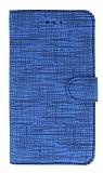 Eiroo Tabby Oppo A92 Cüzdanlı Kapaklı Mavi Deri Kılıf
