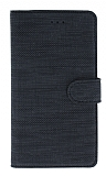 Eiroo Tabby Oppo Reno5 F Cüzdanlı Kapaklı Siyah Deri Kılıf