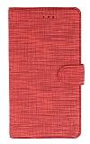 Eiroo Tabby iPhone XS Cüzdanlı Kapaklı Kırmızı Deri Kılıf