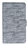Eiroo Tabby Reeder P13 Blue Max Lite Cüzdanlı Kapaklı Gümüş Deri Kılıf