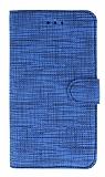 Eiroo Tabby Samsung Galaxy M30 Cüzdanlı Kapaklı Mavi Deri Kılıf
