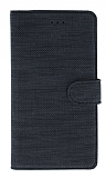Eiroo Tabby Samsung Galaxy Note 10 Cüzdanlı Kapaklı Siyah Deri Kılıf