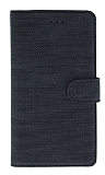 Eiroo Tabby Xiaomi Redmi Note 9 4G Cüzdanlı Kapaklı Siyah Deri Kılıf