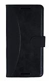 Eiroo Thunder Casper Via A1 Standlı Cüzdanlı Siyah Deri Kılıf