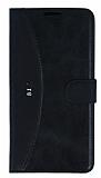 Eiroo Thunder HTC Desire 816 Standlı Cüzdanlı Siyah Deri Kılıf