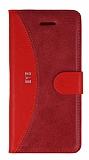 Eiroo Thunder HTC Desire Eye Standlı Cüzdanlı Kırmızı Deri Kılıf