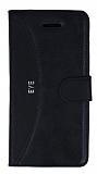 Eiroo Thunder HTC Desire Eye Standlı Cüzdanlı Siyah Deri Kılıf