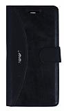 Eiroo Thunder Huawei Honor 7 Standlı Cüzdanlı Siyah Deri Kılıf