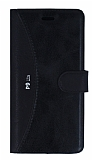 Eiroo Thunder Huawei P9 Lite Standlı Cüzdanlı Siyah Deri Kılıf