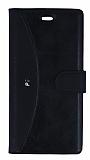 Eiroo Thunder Huawei P9 Standlı Cüzdanlı Siyah Deri Kılıf