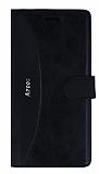 Eiroo Thunder Lenovo A7000 Standlı Cüzdanlı Siyah Deri Kılıf