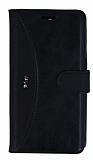 Eiroo Thunder Lenovo Vibe P1m Standlı Cüzdanlı Siyah Deri Kılıf