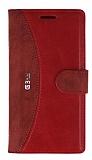 Eiroo Thunder LG G3 S / G3 Beat Standlı Cüzdanlı Kırmızı Deri Kılıf