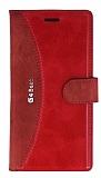 Eiroo Thunder LG G4 Beat Standlı Cüzdanlı Kırmızı Deri Kılıf