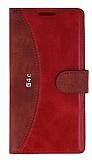 Eiroo Thunder LG G4c Standlı Cüzdanlı Kırmızı Deri Kılıf
