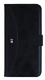 Eiroo Thunder LG G5 Standlı Cüzdanlı Siyah Deri Kılıf