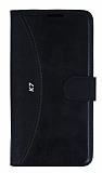 Eiroo Thunder LG K7 Standlı Cüzdanlı Siyah Deri Kılıf