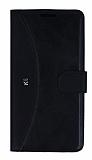 Eiroo Thunder LG K8 Standlı Cüzdanlı Siyah Deri Kılıf