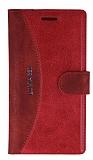 Eiroo Thunder Nokia Lumia 830 Standlı Cüzdanlı Kırmızı Deri Kılıf