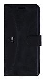 Eiroo Thunder Samsung Galaxy A5 2016 Standlı Cüzdanlı Siyah Deri Kılıf