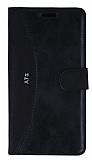 Eiroo Thunder Samsung Galaxy A7 2016 Standlı Cüzdanlı Siyah Deri Kılıf