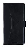 Eiroo Thunder Samsung Galaxy A9 Standlı Cüzdanlı Siyah Deri Kılıf