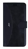 Eiroo Thunder Samsung Galaxy J5 2016 Standlı Cüzdanlı Siyah Deri Kılıf