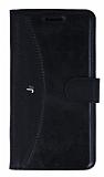 Eiroo Thunder Samsung Galaxy J5 Standlı Cüzdanlı Siyah Deri Kılıf