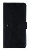 Eiroo Thunder Samsung Galaxy J7 2016 Standlı Cüzdanlı Siyah Deri Kılıf