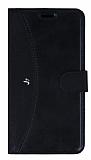 Eiroo Thunder Samsung Galaxy J7 / Galaxy J7 Core Standlı Cüzdanlı Siyah Deri Kılıf