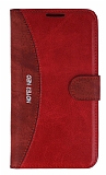 Eiroo Thunder Samsung N7500 Galaxy Note 3 Neo Standlı Cüzdanlı Kırmızı Deri Kılıf