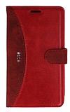 Eiroo Thunder Samsung Galaxy Note Edge Standlı Cüzdanlı Kırmızı Deri Kılıf