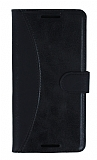 Eiroo Thunder Samsung Galaxy S5 mini Standlı Cüzdanlı Siyah Deri Kılıf