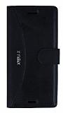 Eiroo Thunder Sony Xperia X Standlı Cüzdanlı Siyah Deri Kılıf