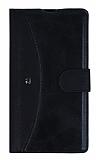 Eiroo Thunder Sony Xperia Z1 Standlı Cüzdanlı Siyah Deri Kılıf