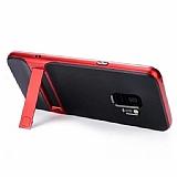 Eiroo Tiger Power Samsung Galaxy A6 Plus 2018 Standlı Ultra Koruma Kırmızı Kılıf