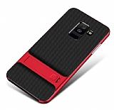 Eiroo Tiger Power Samsung Galaxy J6 Standlı Ultra Koruma Kırmızı Kılıf