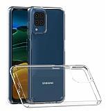 Eiroo Trace Samsung Galaxy M12 Şeffaf Silikon Kılıf