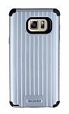 Eiroo Travel Samsung Galaxy Note 5 Ultra Koruma Silver Kılıf