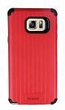 Eiroo Travel Samsung Galaxy Note 5 Ultra Koruma Kırmızı Kılıf