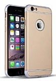 Eiroo Trio Fit iPhone 6 / 6S 3ü 1 Arada Gold Rubber Kılıf