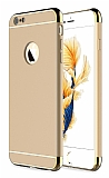 Eiroo Trio Fit iPhone 6 Plus / 6S Plus 3ü 1 Arada Gold Kenarlı Gold Rubber Kılıf