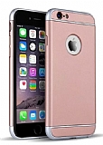 Eiroo Trio Fit iPhone 6 Plus / 6S Plus 3ü 1 Arada Rose Gold Rubber Kılıf