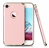 Eiroo Trio Fit iPhone 7 3ü 1 Arada Rose Gold Rubber Kılıf