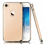 Eiroo Trio Fit iPhone 7 / 8 3ü 1 Arada Gold Rubber Kılıf