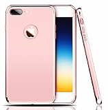 Eiroo Trio Fit iPhone 7 Plus 3ü 1 Arada Rose Gold Rubber Kılıf