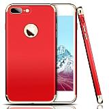 Eiroo Trio Fit iPhone 7 Plus 3ü 1 Arada Kırmızı Rubber Kılıf