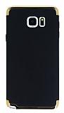Eiroo Trio Fit Samsung Galaxy Note 5 3ü 1 Arada Siyah Rubber Kılıf