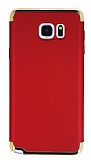 Eiroo Trio Fit Samsung Galaxy Note 5 3ü 1 Arada Kırmızı Rubber Kılıf