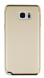 Eiroo Trio Fit Samsung Galaxy Note 5 3ü 1 Arada Gold Rubber Kılıf